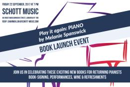 Save the date! Play it again Book launch on September 22nd 2017 held at the Schott Shop in London