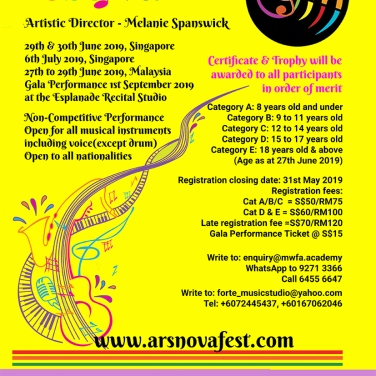 Delighted to be Artistic Director of this music festival in Singapore and Malaysia. More about it here: https://www.arsnovafest.com/