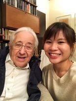 Rachel With Professor Peter Frankl